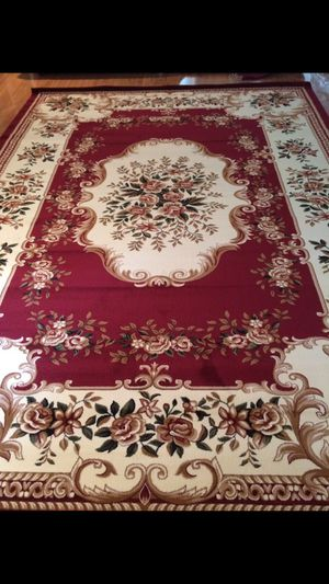 Brand new area rug size 8x11 nice red carpet Persian style rugs and carpets for Sale in Burke, VA