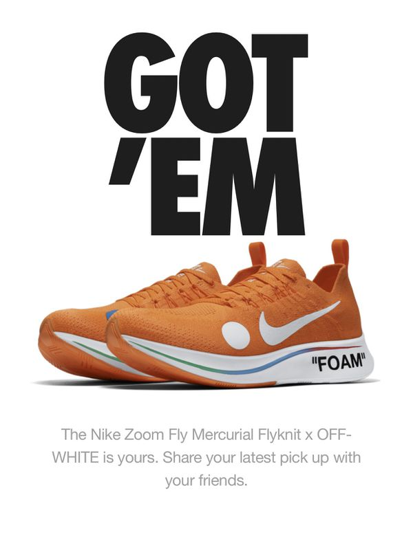 d92742e4aee3 Nike x Off-White Mercurial Flyknit Size 9 for Sale in Queens