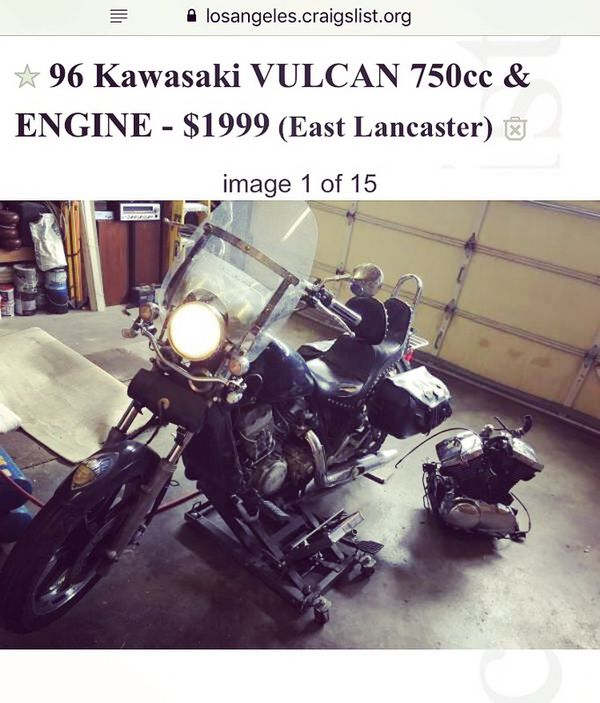 96 Kawasaki Vulcan 750cc for Sale in Lancaster, CA - OfferUp