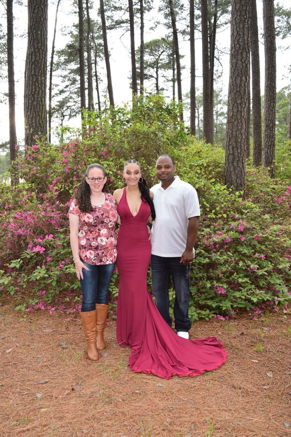 Burgundy Prom Dress (Clothing & Shoes) in Smithfield, NC - OfferUp
