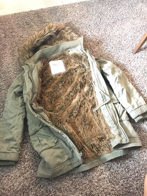 Abercrombie and Fitch Women's Medium Ultra Parka with detachable Faux Fur Hood for sale  Tulsa, OK