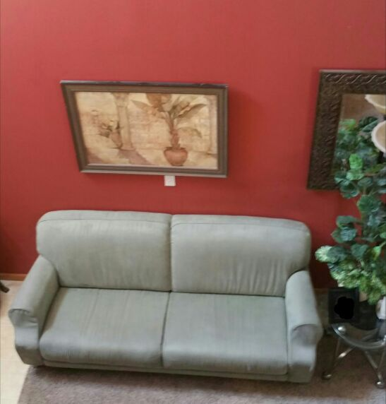 Sage Green Microfiber Sofa Couch From Dania Nattuzi