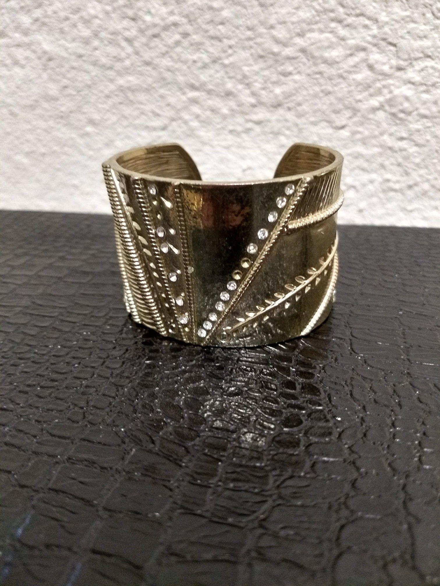 Gold cuff bracelet fantasy jewelry