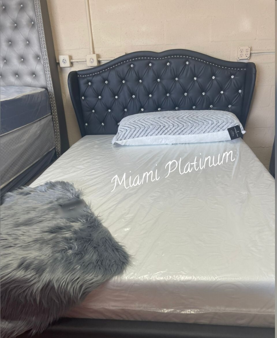 Queen Bed With Mattress // Financing Available