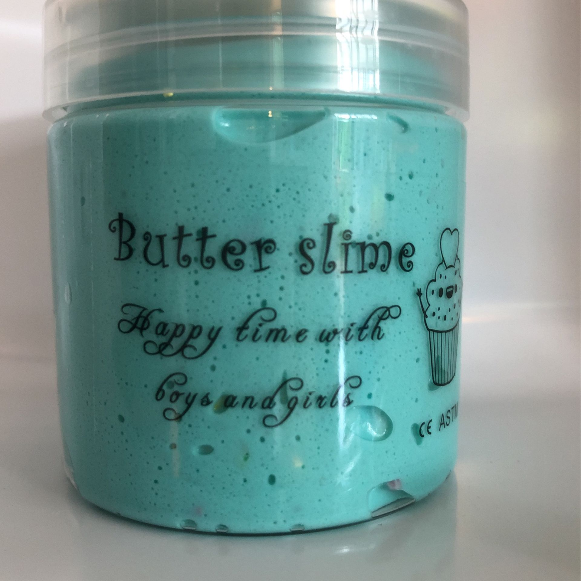 Cyan, Butter Slime With Colorful sprinkles