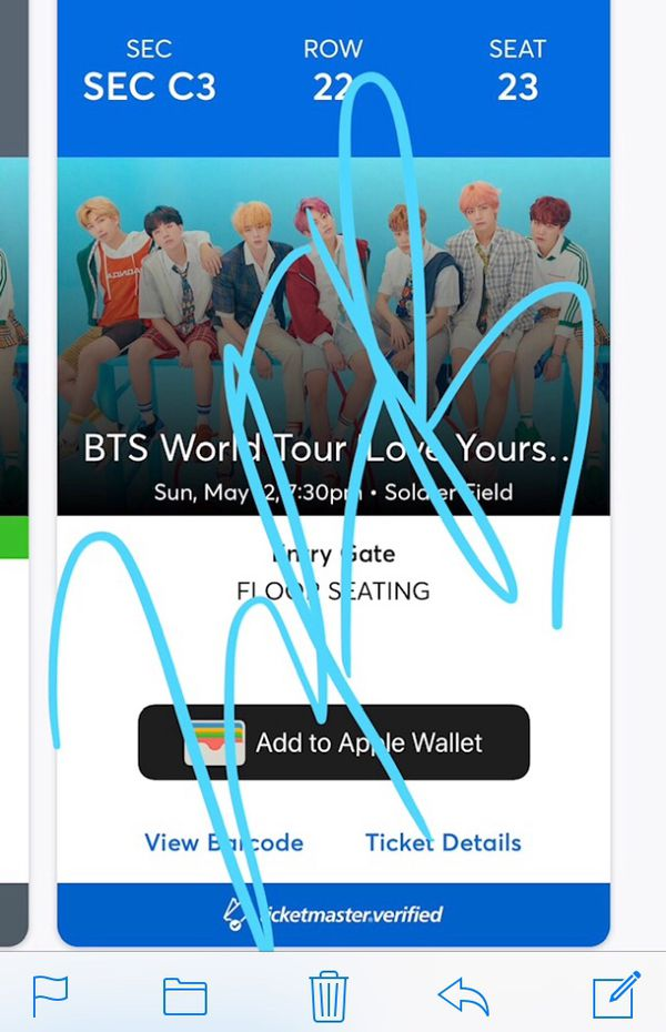 BTS concert ticket for 5/12/19 Chicago for Sale in Cary, NC - OfferUp