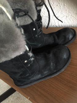 UGG boots! Tall back natural fur Size 8 Thumbnail