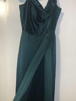 Green party dress Thumbnail