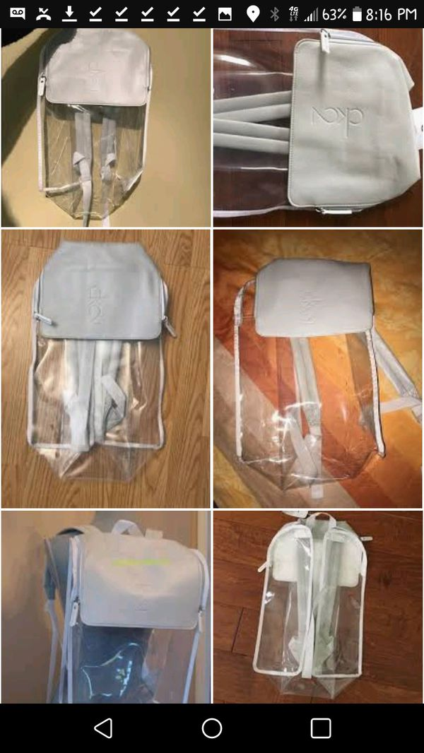 8f798f9fd9f664 Calvin Klein Clear Backpack NWT for Sale in Tolleson, AZ - OfferUp