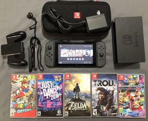 Nintendo Switch + 5 Games for Sale in Olney, MD