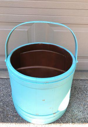 Large wood bucket magazine bucket for Sale in Sumner, WA