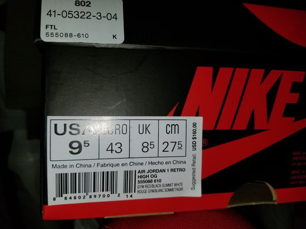 40b96081c1 BRed Toe 1 s for Sale in Oakland