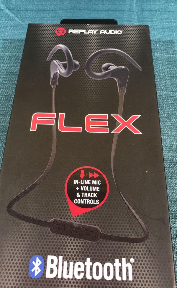 bf27fffa47c Replay Audio Flex RPA-BTEC4BK Wireless Bluetooth headphones new for Sale in  Galloway, NJ - OfferUp