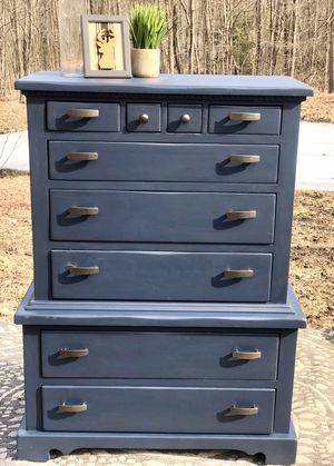 Photo Midnight Blue Tallboy Dresser