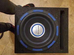 Photo 2500 watt power acoustic 12 in sub and box