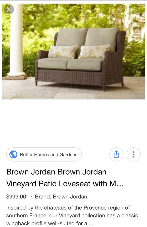 Brown Jordan Patio Loveseat For Sale In Seattle Wa Offerup
