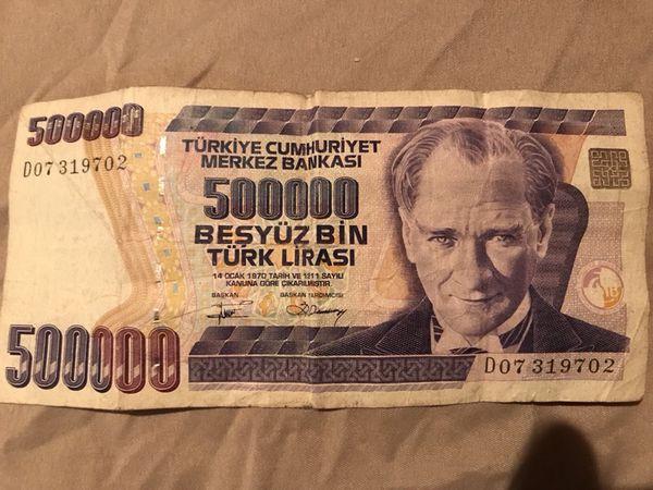 500 000 In Turk Lirasi 132k Us Dollars
