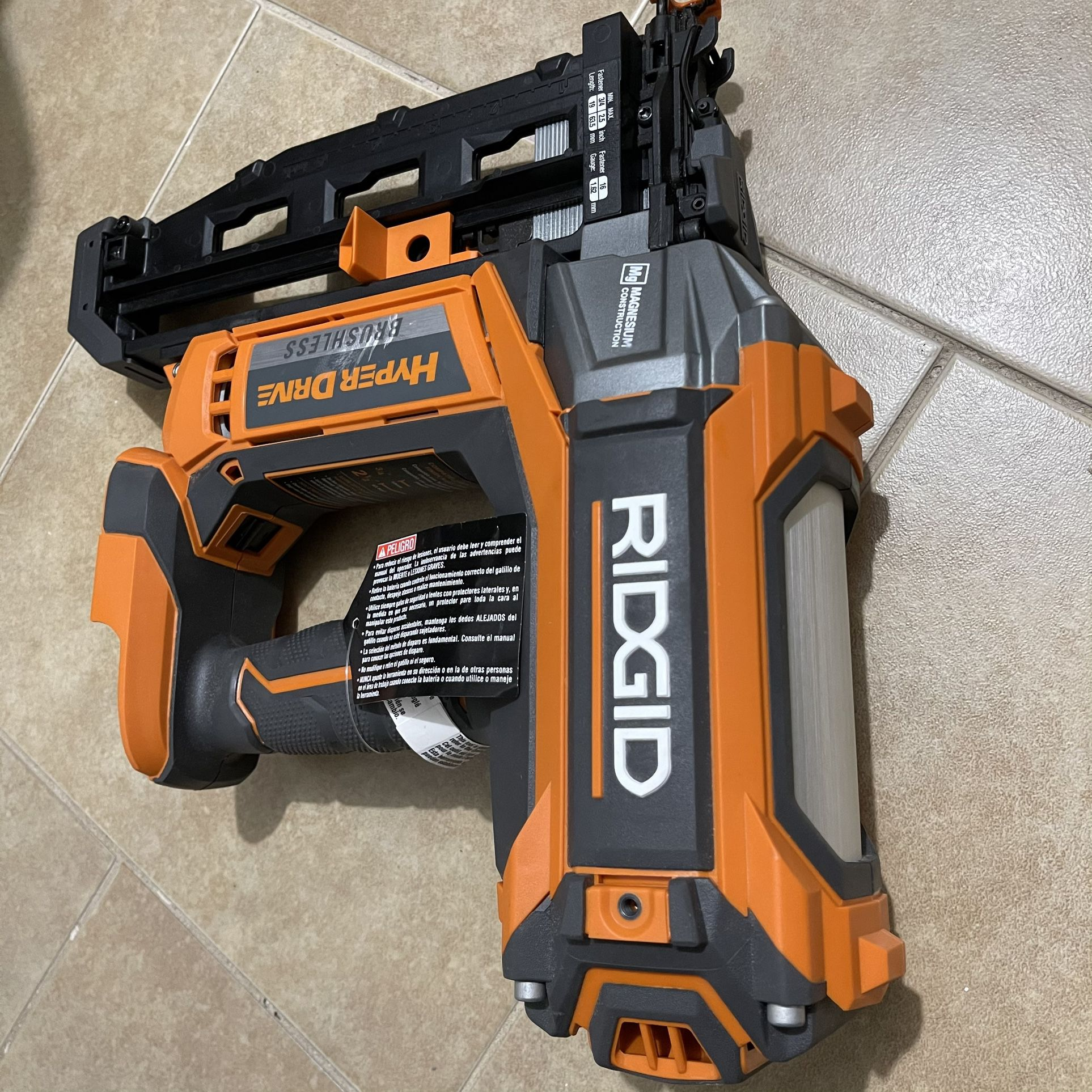 Ridgid 18v Brushless 16ga Finish Nailer(tool Only)