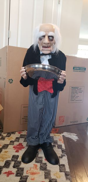 Halloween scary talking butler/kids friendly for Sale in Bethesda, MD