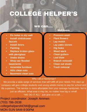 College Helpers for Sale in Burke, VA
