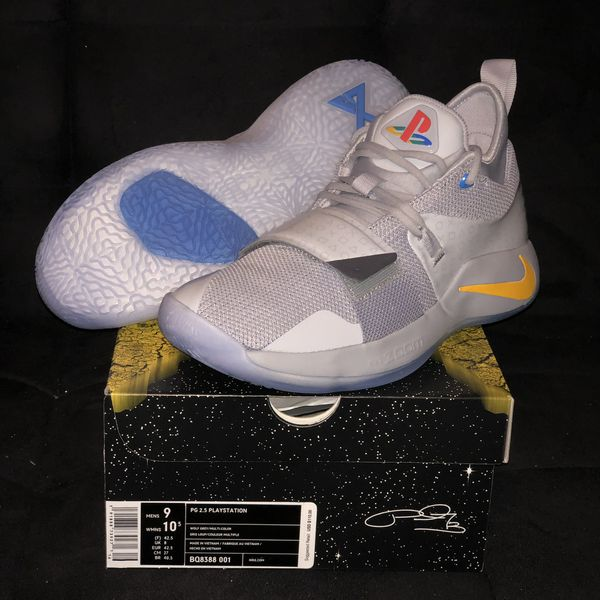 f1320a7bc21e Nike Paul George PG 2.5 Sony Playstation Sz 9Wolf Grey Red Yellow ...
