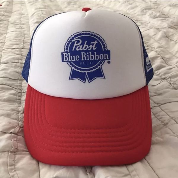 99b8e0d68 PABST BLUE RIBBON RED WHITE & BLUE TRUCKER HAT BRAND NEW! for Sale in Seal  Beach, CA - OfferUp
