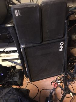 PA Speakers and Amp Thumbnail