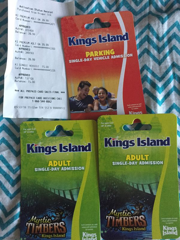 Two Kings Island Tickets And One