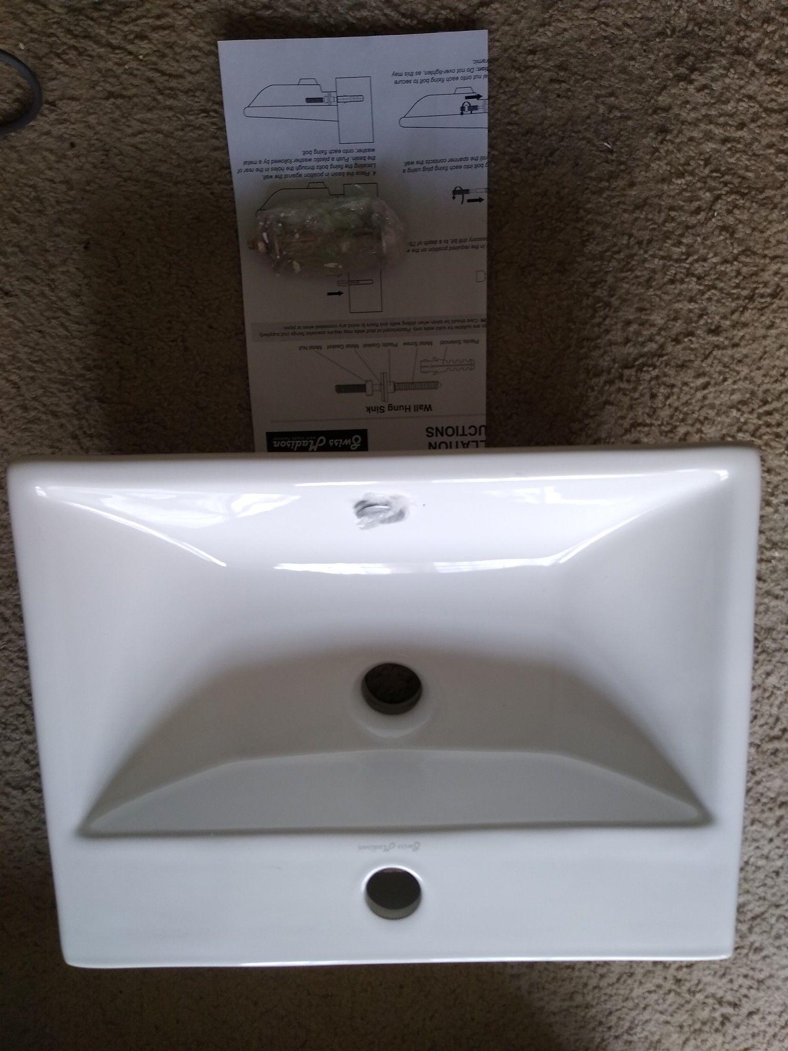 High gloss bathroom sink new open box