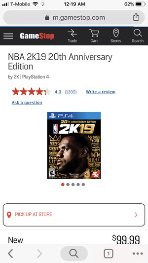 NBA 2K19 20th Anniversary Edition Digital Code for Sale in Herndon, VA