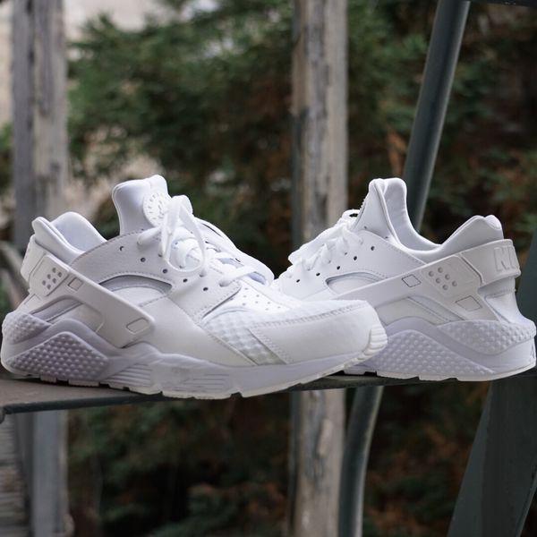 on sale 34ca0 dcfd6 Nike Air Huarache Triple White Pure Platinum 318429-111 SIZE 12 Men
