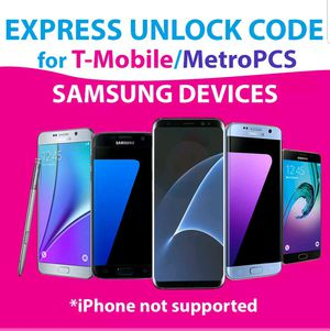 T-Mobile & Metro PCS Samsung phones unlock service for Sale in McLean, VA
