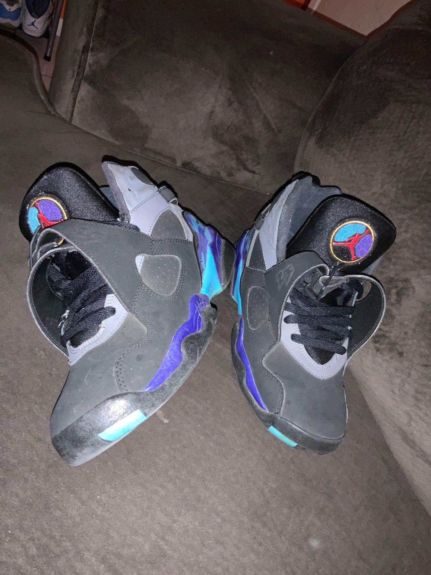 Aqua 8 Jordan's