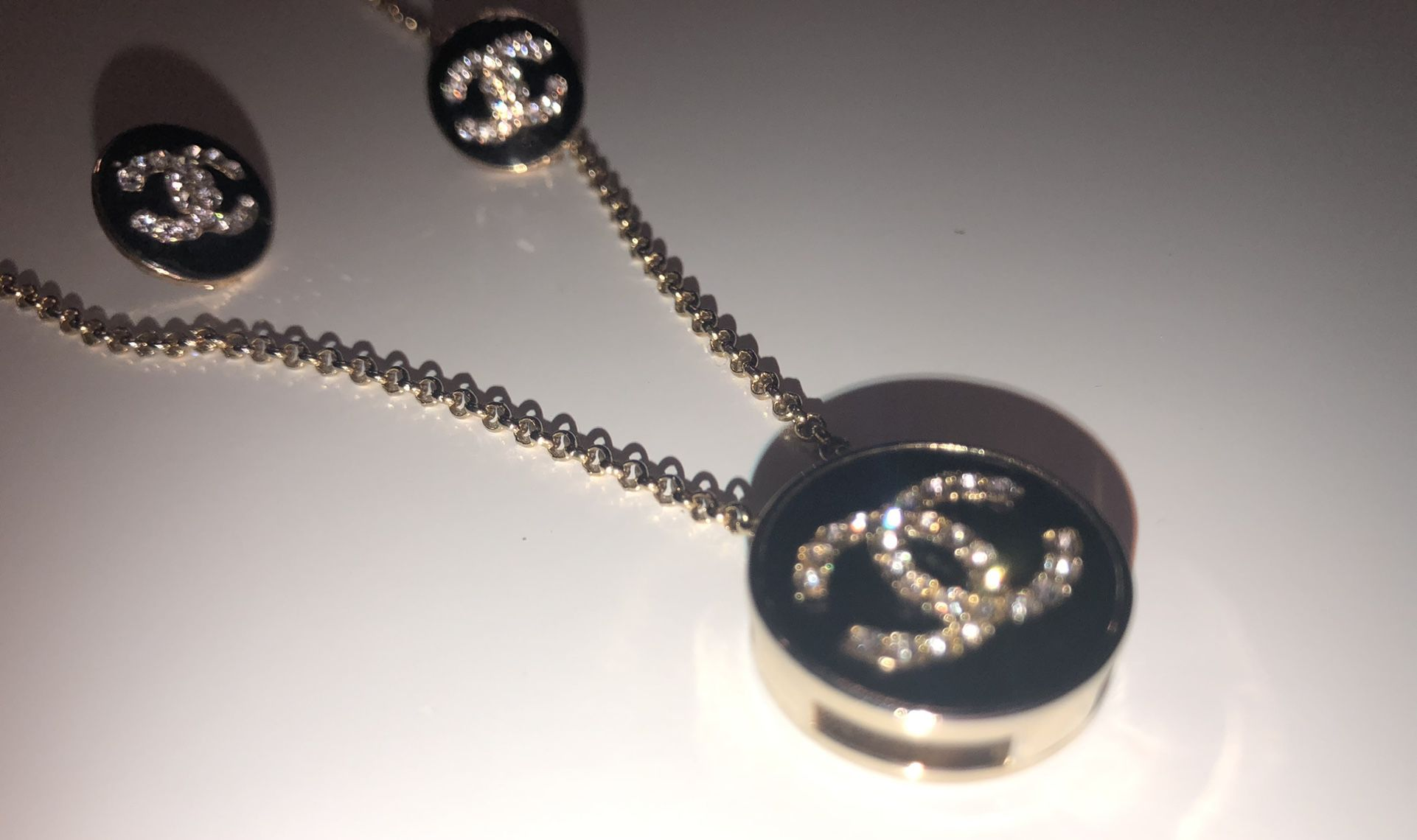 Stainless Steel Necklace & Earings 2pc Set