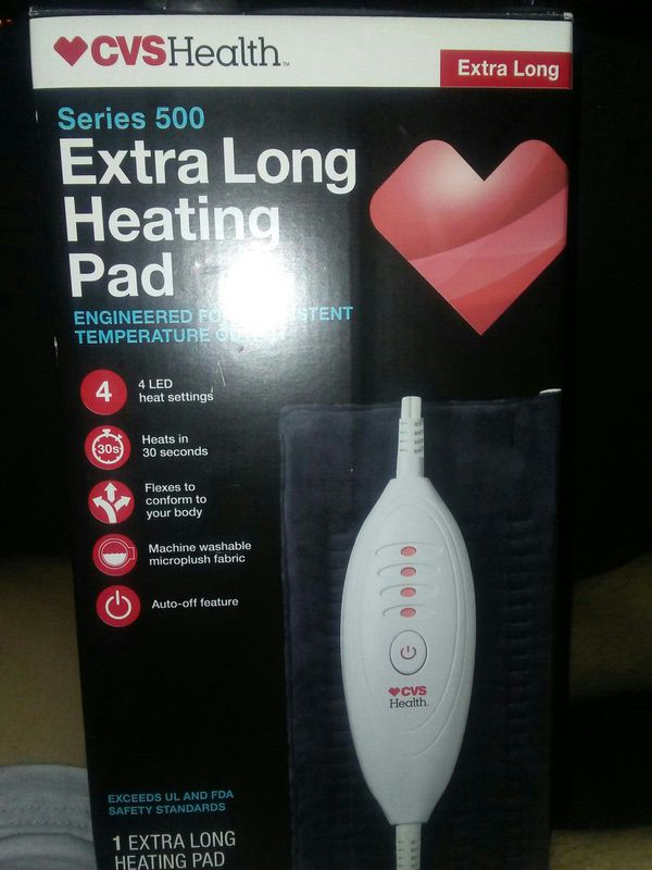 cvs health series 500 extra long heating pad for sale in moreno
