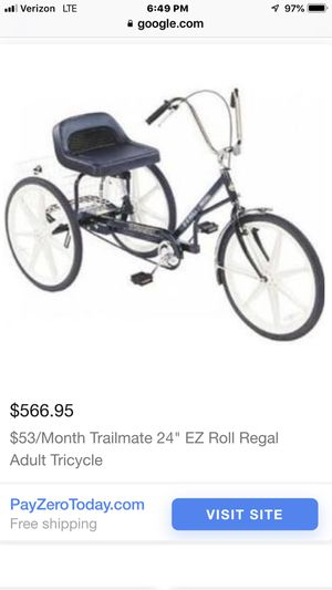Trailmate 24 Ez Roll Regal Adult Tricycle For Sale In Oh Us Offerup