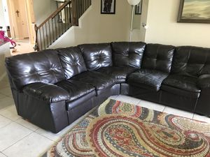 Free sectional couch giving away asap for Sale in Kissimmee, FL