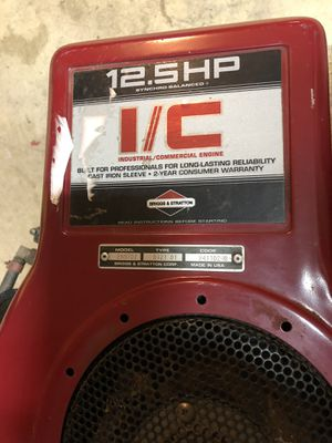 Briggs and Stratton 12.5hp motor for Sale in Silver Spring, MD