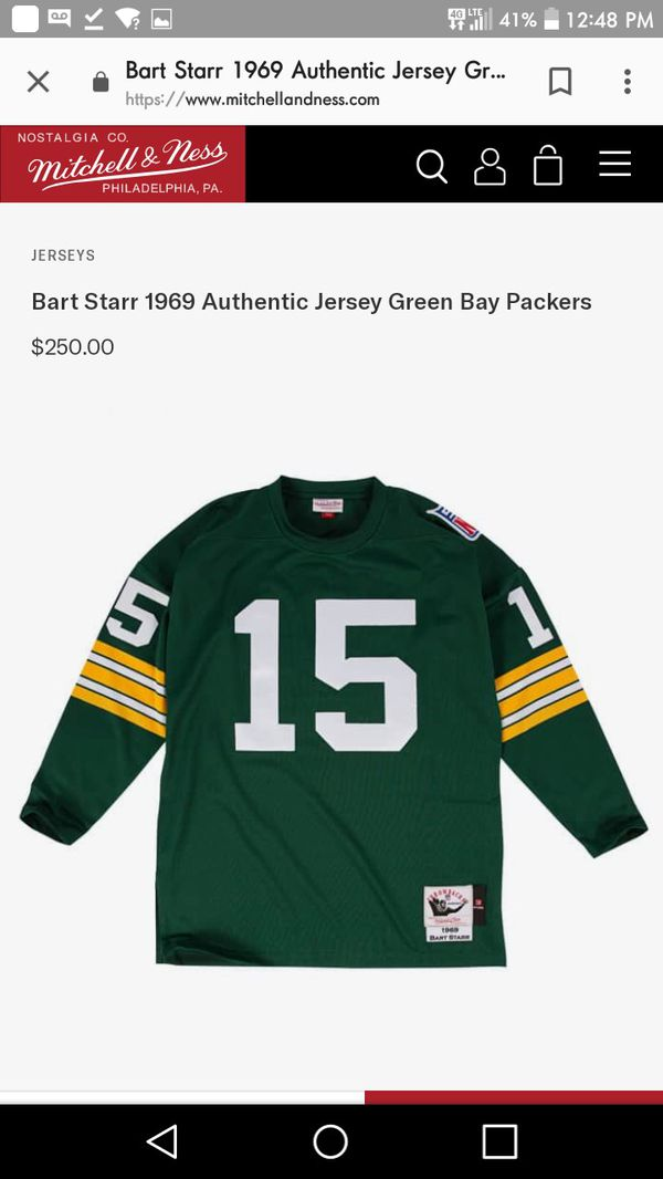 the latest 504b7 dfbfc 1969 Bart Starr Mitchell and Ness throwback jersey for Sale in Albuquerque,  NM - OfferUp