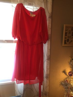 New with tags plus sz 2x dress chiffon Macy's designer great for the holidays for Sale in Northfield, OH