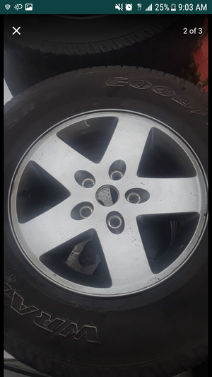 Brush Chrome x4 Wheels and Tires P255/75R17 Truck for Sale in Herndon, VA
