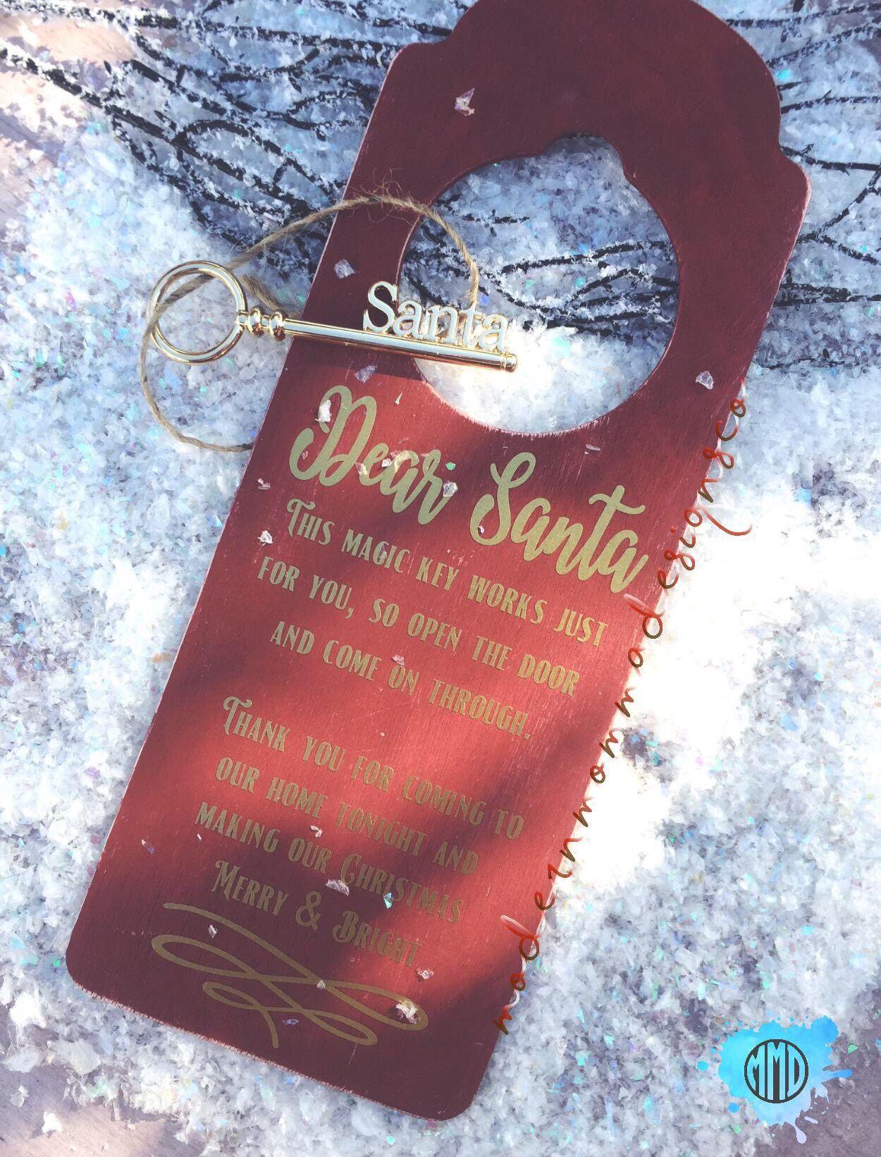 Santas Magic Key Door Hanger