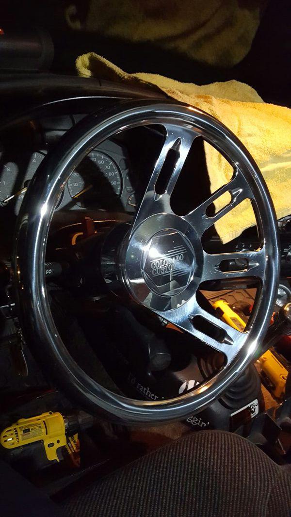 Colorado Custom Severance Billet Steering Wheel Fully Polished Half Wrap
