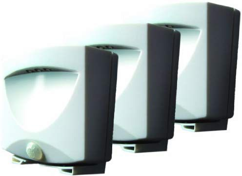 Maxsa Innovations 43341 3 Pack Battery Ed Motion Activated Outdoor Night Light In White