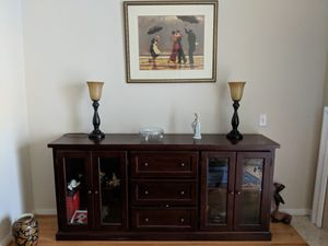 Wood storage console table! for Sale in Alexandria, VA