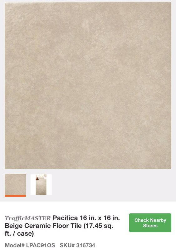Trafficmaster Pacifica 16 X16 Beige Ceramic Floor Tile For In Glendale Az Offerup