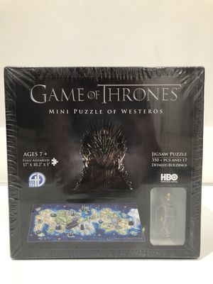 Game Of Thrones mini puzzle of westeros for Sale in Los Angeles, CA