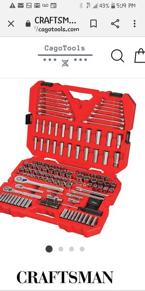 Photo Brand New never used Craftsman 121 piece tool set and 7 piece ratchet wtench set$150 for both