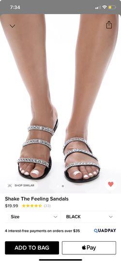 Black sandals Thumbnail