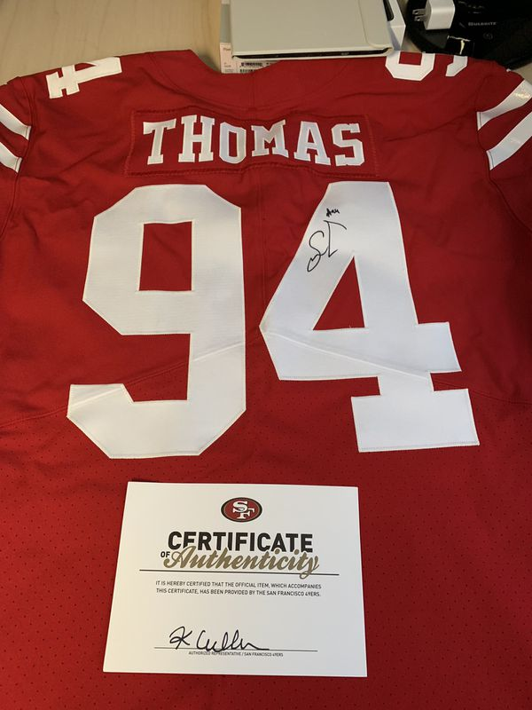cheap for discount e8484 c33c4 49ers Autographed Jersey Solomon Thomas #94 for Sale in San Jose, CA -  OfferUp